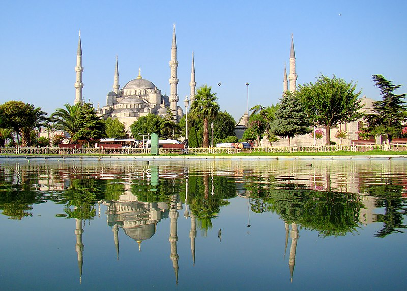 File:Blue Mosque Istanbul Mirrored.JPG