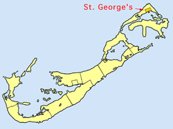 Location in Bermuda