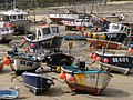 Boats at low tide, St Ives harbour - geograph.org.uk - 935681.jpg