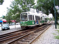 Boeing Vertol USSLRV #3523in Fahrtrichtung Cleveland Circle, August 2005.