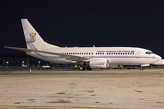 "21 Squadron SAAF - Boeing 737 BBJ ""Inkwazi"" at Zurich-Kloten Airport in Switzerland"