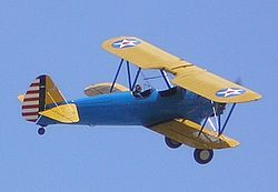 Boeing Stearman 75 Kaydet flying-close up-2.jpg