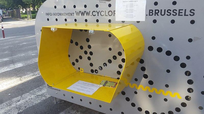 Boekenruilkast fietsbox Jette