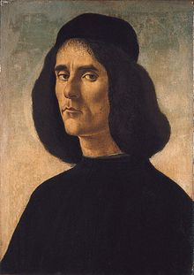 Portrait of Michael Marullus by Sandro Botticelli in about 1496.[1]