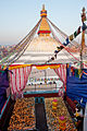 Boudhanath stoupa from a roof.JPG