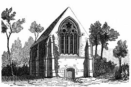 The priory, drawn in 1867