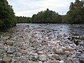 Boulders on the bed of the River Dee near Inchmarnoch - geograph.org.uk - 579430.jpg