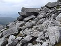 Boulders on the summit ridge of Mealaisbhal - geograph.org.uk - 1399462.jpg
