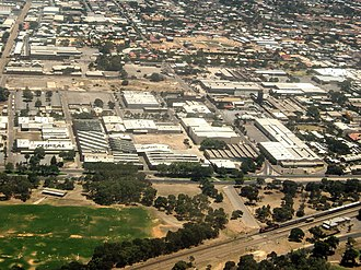 Bowden, South Australia - Aerial view of the Clipsal site development in Bowden.