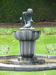 Boy With A Frog Fountain In South West Segment Of Queen Mary's Gardens East Of West Lodge