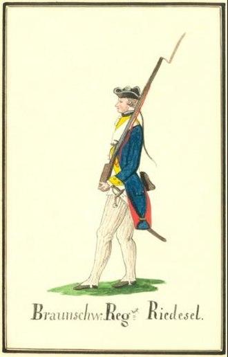 Brunswick Troops in the American Revolutionary War - Musketeer Regiment Riedesel.