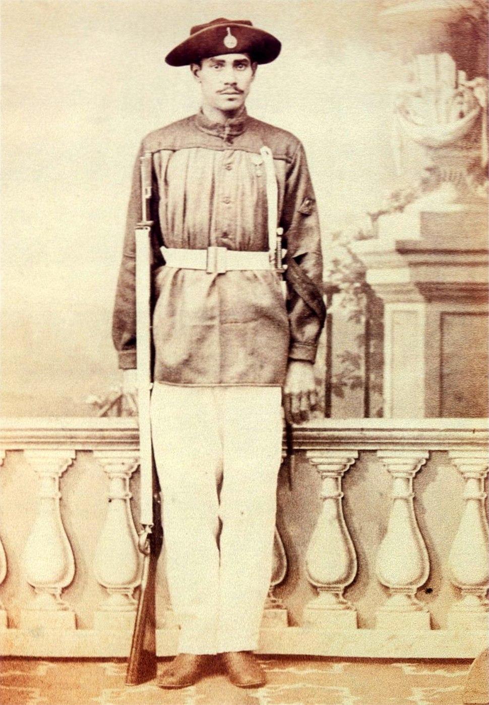 Brazilian corporal of the 1st Fatherland Volunteer battalion