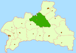 Location of Ivaceviču rajons