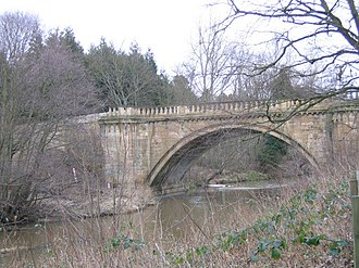 Grade I listed buildings in Northumberland - Image: Bridge over the River Aln geograph.org.uk 1027439