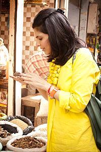British Chef Anjum Anand in Amrithsar, Punjab India, November 2013.jpg
