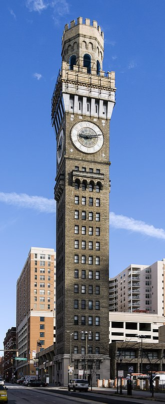 Emerson Bromo-Seltzer Tower - Image: Bromo Seltzer Tower MD1
