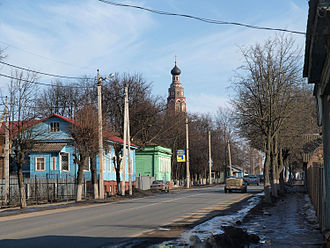Bronnitsy - Main street of Bronnitsy, the old Moscow-Ryazan highway