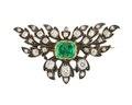 Brosch med briljanter och smaragd, 1830 - Hallwylska museet - 109696.tif