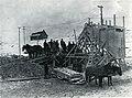 Broyeur à roches utilisé lors de la construction de l'usine Price Brothers, Alma (Québec).jpg