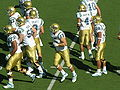 Bruins break huddle at UCLA at Cal 10-25-08.JPG