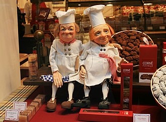 Praline - Praline shop in Brussels. Such luxury shops typically also sell chocolate truffles