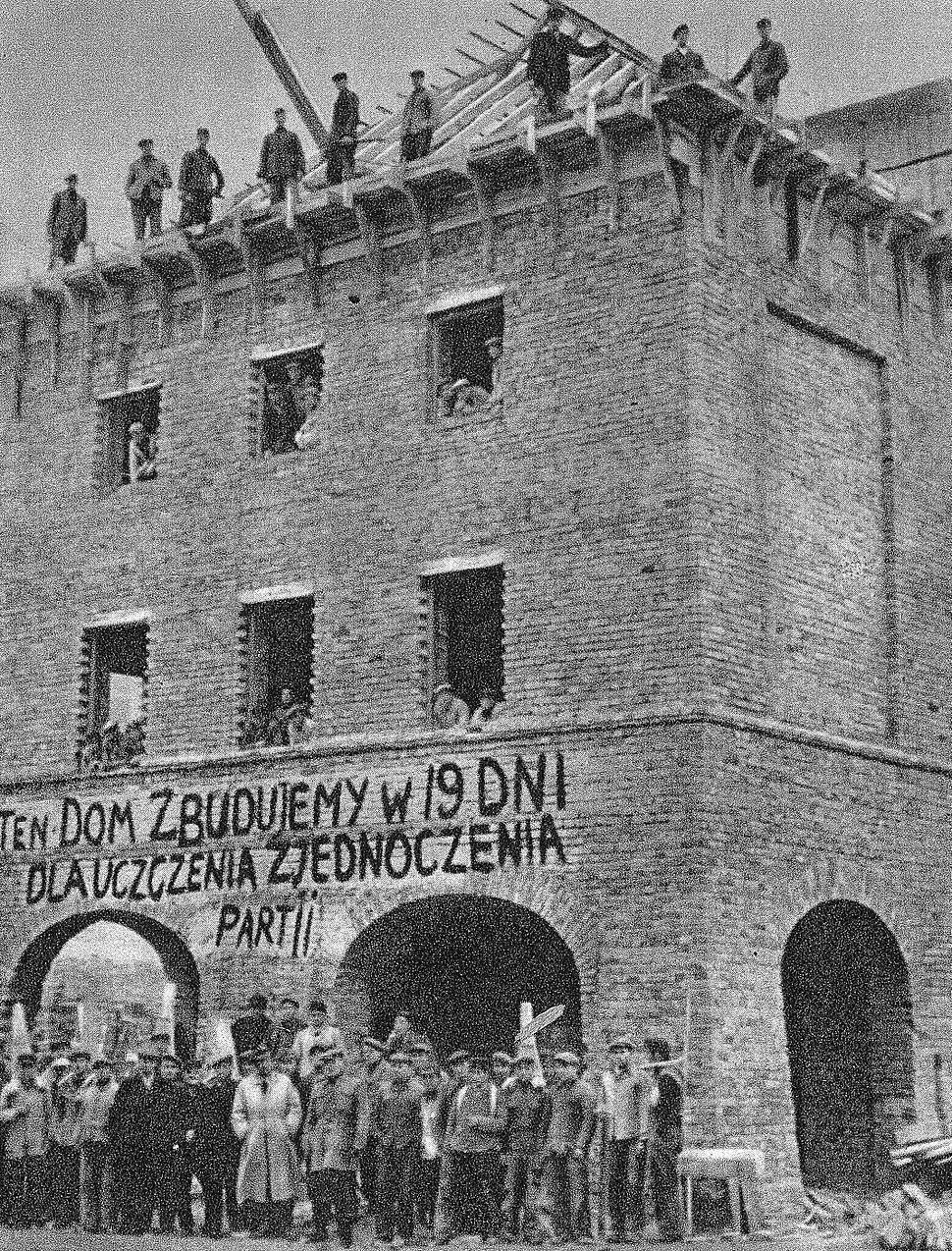 Budowa Mariensztat 1949