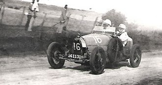 1931 Australian Grand Prix - Carl Junker won the race driving a Bugatti Type 39