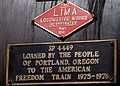 Builder's plate and Freedom Train plaque on side of SP 4449.jpg
