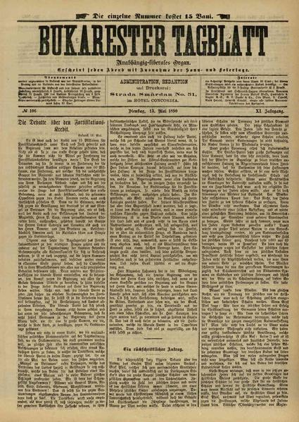 File:Bukarester Tagblatt 1890-05-13, nr. 106.pdf