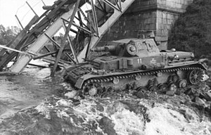 8th Panzer Division (Wehrmacht) - June 1941 a Panzer IV of 8th Panzer Division crossing a river in the Soviet Union
