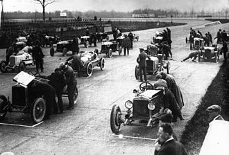 "Autodromo Nazionale Monza - The starting grid of the ""1st Cup Fiera di Milano"" race held in 1925."