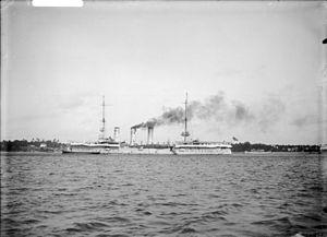 SMS Königsberg (1905) - SMS Königsberg at Bagamoyo, June 1914