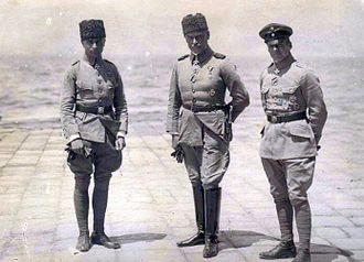 Hans-Joachim Buddecke - Hans-Joachim Buddecke, Otto Liman von Sanders and Oswald Boelcke in Turkey, 1916