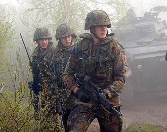 Heckler & Koch G36 - German Bundeswehr land force soldiers deployed with G36s