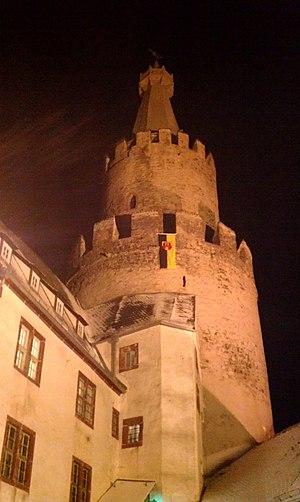Osterburg (Weida) - Image: Burgturm Osterburg Weida nachts
