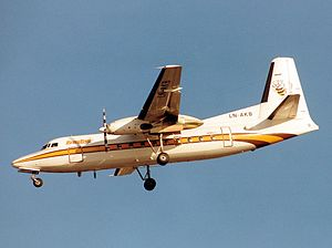 Fokker F27 Friendship - Image: Busy Bee F 27 LN AKB