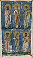 Byzantine - Miniature with the Apostles Paul and Peter and the Evangelists John, Luke, Matthew, and Mark - Walters W530C.jpg