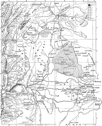 Lajat - Trachonitis on map from Encyclopaedia Biblica (1903)