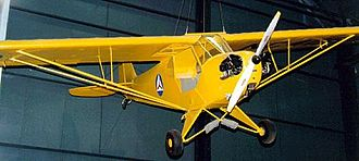 Piper J-3 Cub - J-3 aircraft with CAP markings on display at the National Museum of the United States Air Force