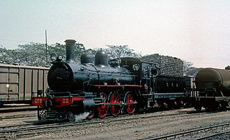 4-6-0 - Ex CGR 6th Class no. 218, CFB no. 22, at Benguela on 12 August 1972
