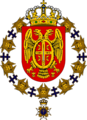 COA of Milan I as a Knight of the Order of the Seraphim.png