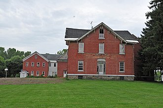 National Register of Historic Places listings in Cortland County, New York - Image: CORTLAND COUNTY POOR FARM, CORTLAND COUNTY