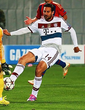 Claudio Pizarro - Pizarro with Bayern in 2014.