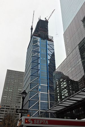 Comcast Technology Center - The Comcast Technology Center under construction in December 2016