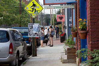 Cabbagetown, Atlanta - Street scene in Cabbagetown