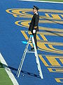 Cal Band conductor at halftime at UCLA at Cal 10-25-08.JPG
