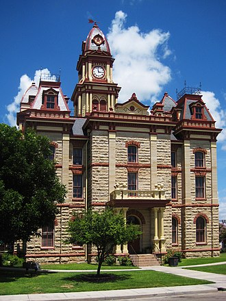 National Register of Historic Places listings in Caldwell County, Texas - Image: Caldwell County Courthouse Lockhart