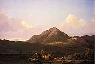 Camp Fire in the Maine Wilderness Frederic Edwin Church.jpg