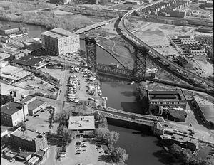 Canal Street railroad bridge - Image: Canal Street bridges HAER IL 112 9