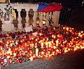 Candles, Václav Havel death, Náměstí Svobody, Brno (1).jpg
